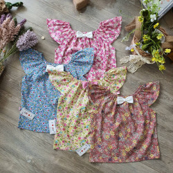 Áo váy hoa tay tiên size 2-6