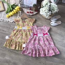 Váy hoa bé gái ren eo  đuôi cá